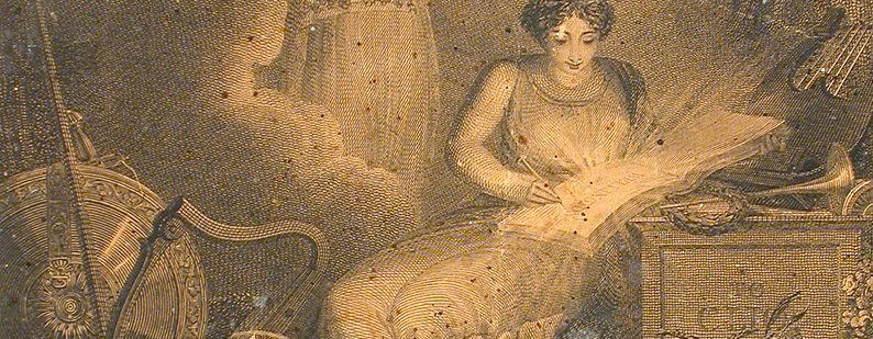 Estampe, À Clio, Anonyme, vers 1850, Musée McCord, M932.8.1.154