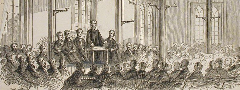 Gravure, Groupe de lecture John Henry Walker, 1850-1885, Musée McCord, M930.51.1.94