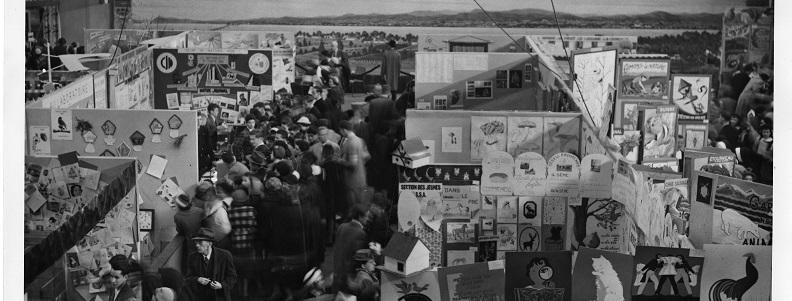 Exposition dans le cadre du congrès international de science naturelle présidé par la Société canadienne d'histoire naturelle à laquelle les Cercles des jeunes naturalistes ont participé, 1952, Archives UQAM, Fonds d'archives des Cercles des jeunes naturalistes, 16p_640_01_f3_6