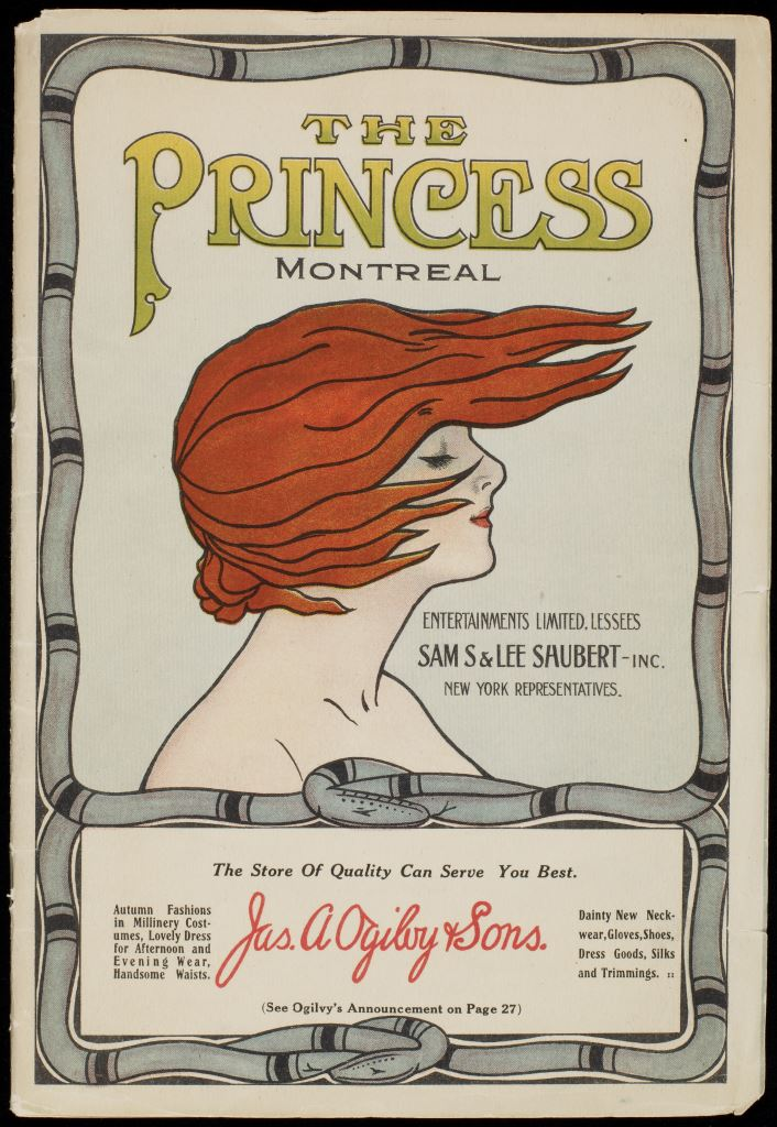 Madame Nordica, soprano, programme de spectacle, Princess Theatre, 1912, Bibliothèque et Archives nationales du Québec