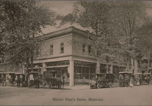 Walter Paul's Store, Montreal, Novelty Manufacturing & Art Printing Co., 19--?, Bibliothèque et Archives nationales du Québec, Collection Michel Bazinet: 19-69-b.