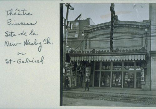 Façade du Princess Theatre, photographie, vers 1909, Albums de rues E.-Z. Massicotte, Bibliothèque et Archives nationales du Québec