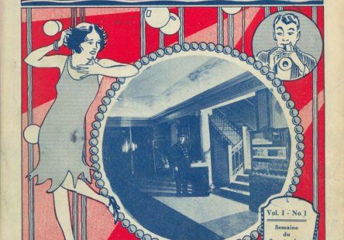 Couverture du programme du Théâtre National, vol. 1, no 1, 1929, A. Fournier, Bibliothèque et Archives nationales du Québec