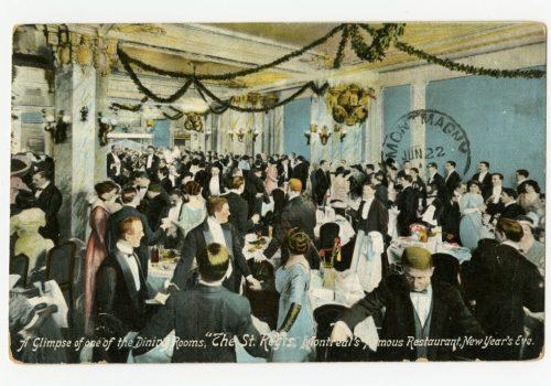 Le restaurant St. Regis, voisin du Princess Theatre, carte postale, vers 1910, Bibliothèque et Archives nationales du Québec