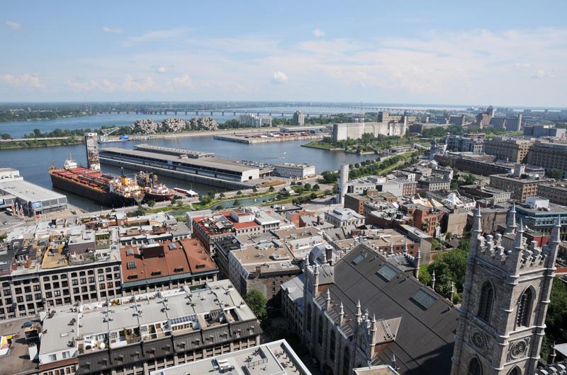 Vue du Vieux-Montréal Guillaume St-Jean, Chaire de recherche du Canada en patrimoine urbain (UQAM)