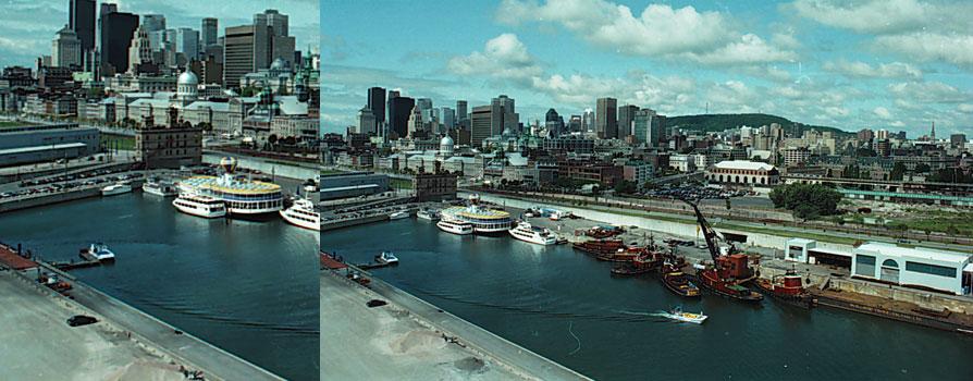 Vieux-Port et centre-ville de Montréal vus de la Tour de l'Horloge, 10 juillet 1992, Denis Labine, Archives de la Ville de Montréal, VM94-A1051-131
