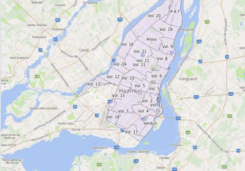 Carte-index des plans d'assurance-incendie de Montréal conservés à BAnQ