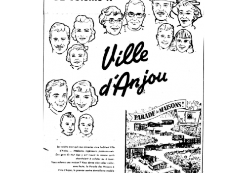 « Votre genre de voisins à Ville d'Anjou », La Presse, 18 avril 1959