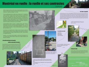 Montréal en ruelle : la ruelle et ses contrastes par Charlotte Kelly